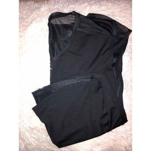 Fabletics workout top with mesh detailing